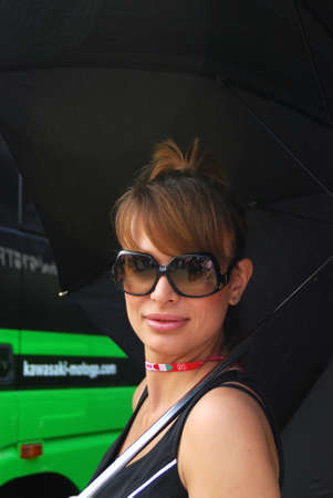 MUGELLO - MAY 2008: Grid girls at GP of Italy MotoGP on May 2008 in Mugello Circuit in ITALY.
