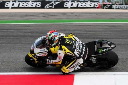 Misano - ITALY, 5 September 2009: American Yamaha Tech3 rider Colin Edwards at 2009 GRAN PREMIO CINZANO DI SAN MARINO E DELLA RIVIERA DI RIMINI on Misano World Circuit in Italy.
