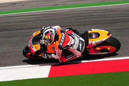 Misano - ITALY, 5 September 2009:  Spanish HONDA Repsol rider Dani Pedrosa at 2009 GRAN PREMIO CINZANO DI SAN MARINO E DELLA RIVIERA DI RIMINI on Misano World Circuit in Italy.