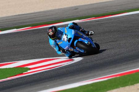 Misano - ITALY, 5 September 2009:  Australian Suzuki rider Chris Vermeulen at 2009 GRAN PREMIO CINZANO DI SAN MARINO E DELLA RIVIERA DI RIMINI on Misano World Circuit in Italy.