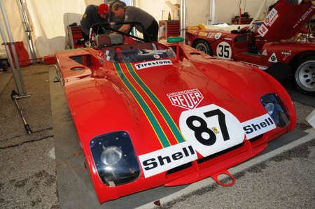 Imola Classic 22 oct 2016 - FERRARI 312 PB - driven by Steven READ and giovanni LAVAGGI during practice on imola Circuit, Italy.