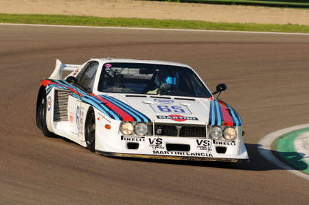 Imola Classic 22 Oct 2016 - Lancia Beta - 1979 driven by unknown, during practice on Imola Circuit, Italy. Redactioneel