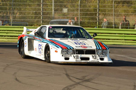Imola Classic 22 Oct 2016 - Lancia Beta - 1979 driven by unknown, during practice on Imola Circuit, Italy. Editorial