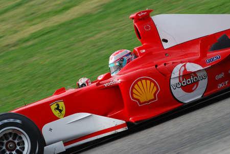 MUGELLO, IT, November, 2007: unknown run with Modern Ferrari F1 during Finali Mondiali Ferrari 2007 into the mugello circuit in italy