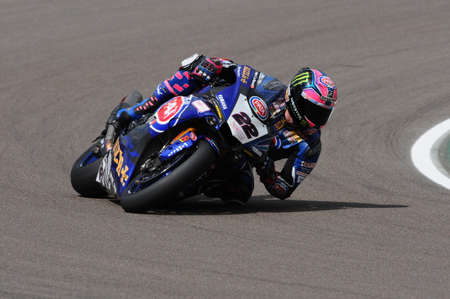 San Marino Italy - May 12: Alex Lowes GBR Yamaha YZF R1 Pata Yamaha Official Team SBK Rizla, in action during the Superbike Qualifying session on May 12, 2017 in Imola Circuit, Italy. Editorial