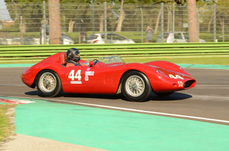 Imola Classic 22 Oct 2016 - MASERATI 250 S 1957 driven by Richard WILSON, during practice on Imola Circuit, Italy.