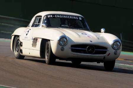 Imola Classic 22 Oct 2016 - MERCEDES 300 SL 1955 driven by Hans KLEISSL, during practice on Imola Circuit, Italy.