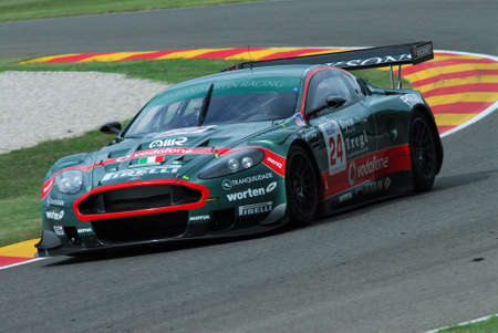 15 September 2006: #24 Aston Martin DBR9 GT1 of Aston Martin Racing BMS (I) team driven by Gollin / Ramos during FIA GT Championship round of Mugello Circuit in Italy. Stock Photo - 99023635