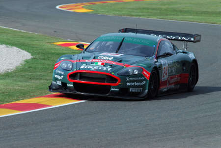 15 September 2006: #24 Aston Martin DBR9 GT1 of Aston Martin Racing BMS (I) team driven by Gollin / Ramos during FIA GT Championship round of Mugello Circuit in Italy. Stock Photo - 99023636