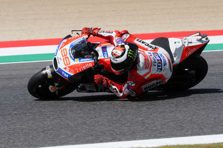 MUGELLO - ITALY, JUNE 3: Spanish Ducati rider Jorge Lorenzo at 2017 OAKLEY MotoGP GP of Italy at Mugello Circuit on JUNE 3, 2017