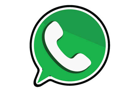 Florence, ITALY - APRIL 9, 2018: WhatsApp Messenger logo. WhatsApp Messenger is an instant messaging app for smartphones that operates under a subscription business model.