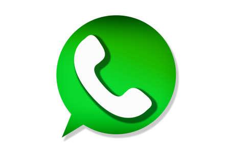 Florence, ITALIË - APRIL 9, 2018: WhatsApp Messenger-logo. WhatsApp Messenger is een instant messaging-app voor smartphones die werkt met een bedrijfsmodel met abonnement.