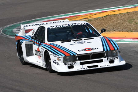 21 April 2018: Emanuele Pirro drive Lancia Martini Beta Montecarlo during Motor Legend Festival 2018 at Imola Circuit in Italy. 報道画像