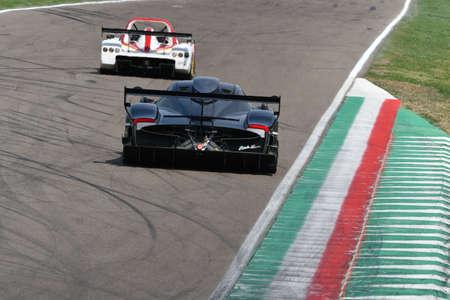 6 May 2018: Unknown run with Pagani Zonda R during Minardi Historic Day 2018 at Imola Circuit in Italy.