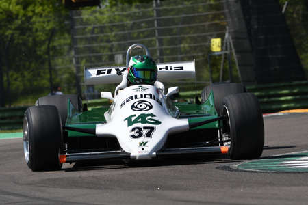 21 April 2018: D'Ansembourg, Christophe BE run with historic 1981 F1 car Williams FW07C during Motor Legend Festival 2018 at Imola Circuit in Italy.