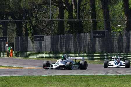 21 April 2018: DAnsembourg, Christophe BE run with historic 1981 F1 car Williams FW07C during Motor Legend Festival 2018 at Imola Circuit in Italy.