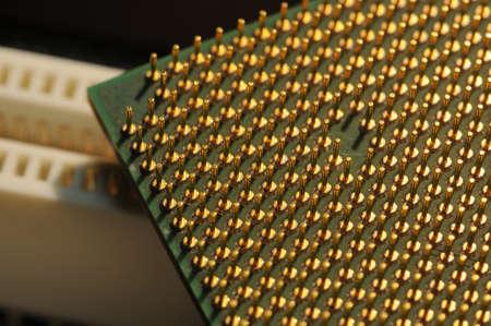 closeup of cpu computer microprocessor