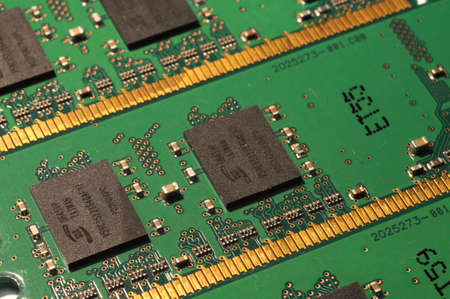 closeup of PC RAM Memory Modules