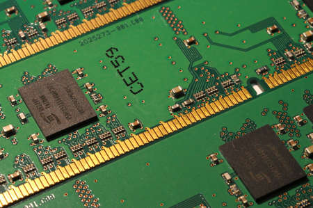 closeup of PC RAM Memory Modules