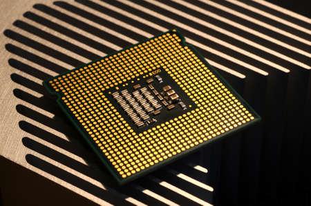 cpu processor on aluminum heat sink Stock fotó
