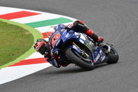 MUGELLO - ITALY, 2 JUNE: Spanish Yamaha Movistar Team rider Maverick Vinales during Qualifying session at 2018 GP of Italy of MotoGP on June, 2018. Italy