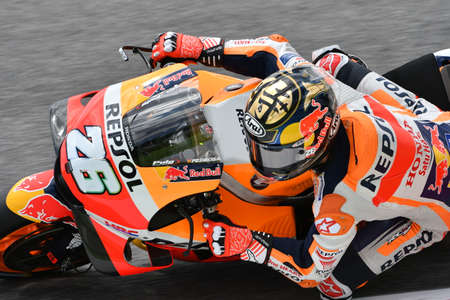 MUGELLO - ITALY, 2 JUNE: Spanish Honda Repsol Team rider Daniel Pedrosa at 2018 GP of Italy of MotoGP on June, 2018. Italy