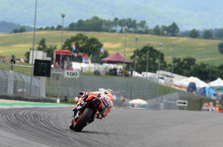MUGELLO - ITALY, 2 JUNE: Spanish Honda Repsol Team rider Daniel Pedrosa during Qualifying session at 2018 GP of Italy of MotoGP on June, 2018. Italy