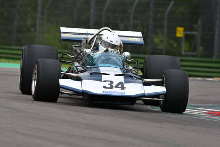 6 May 2018: unknown run with historic 1971 Surtees TS9 F1 during Minardi Historic Day 2018 into the Imola Circuit in italy. 報道画像