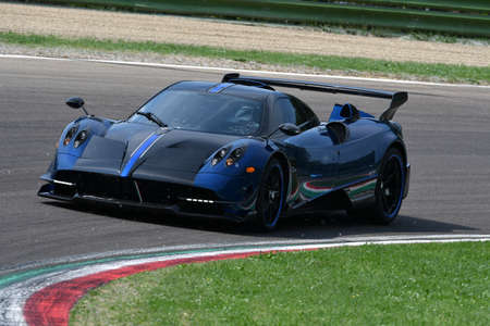 6 May 2018: Unknown run with Pagani Huayra during Minardi Historic Day 2018 in Imola Circuit in Italy.