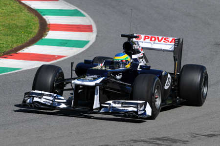MUGELLO, ITALY - MAY 2012: Bruno Senna of Williams F1 races during a training session on May 2012 at Mugello Circuit in Italy.
