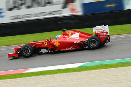 MUGELLO, ITALY 2012: Fernando Alonso of Ferrari F1 team racing at Formula One Teams Test Days at Mugello Circuit in Italy.