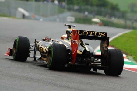 MUGELLO, ITALY - MAY 2012: Jerome DAmbrosio of Lotus Renault F1 drives during testing session in Mugello Circuit, Italy.
