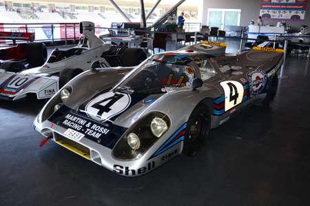 21 April 2018: PORSCHE 917 K 1971 Martini Racing ex ELFORD / LAROUSSE at Motor Legend Festival 2018 at Imola Circuit in Italy. Éditoriale