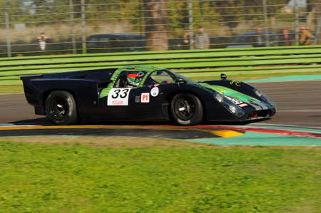 Imola Classic 22 Oct 2016 - LOLA T70 Mk III B 1969 driven by Richard MILLE / Carlos TAVARES, during practice on Imola Circuit, Italy.