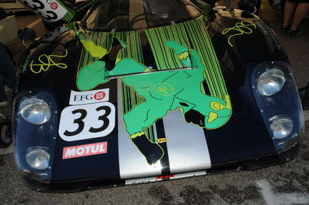 Imola Classic 22 Oct 2016 - LOLA T 70 1970 in the Paddock of Imola Circuit, Italy. Editorial