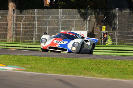 Imola Classic 22 Oct 2016 - LOLA T 70 1970 driven by unknown, during practice on Imola Circuit, Italy. Editorial