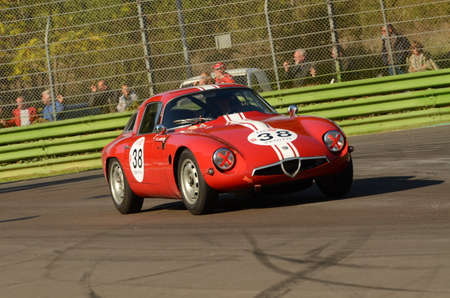 Imola Classic 22 Oct 2016 - ALFA ROMEO TZ 1 1964 driven by Lucien GUITTENY, during practice on Imola Circuit, Italy. Sajtókép