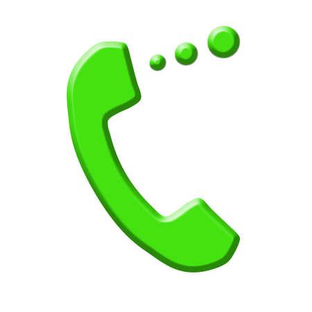 Telephone icon vector isolated on white background