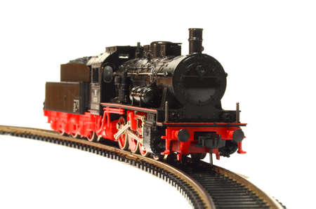 steam loco model isolated over white background Stock fotó