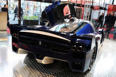 BOLOGNA, ITALY - 2 DECEMBER 2010: Ferrari FXX exhibited at the Bologna Motor Show. italy Editorial