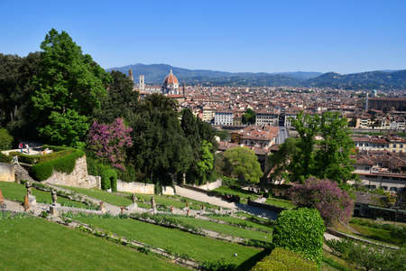 Cathedral of Santa Maria del Fiore seen from Bardini garden in Florence. italy