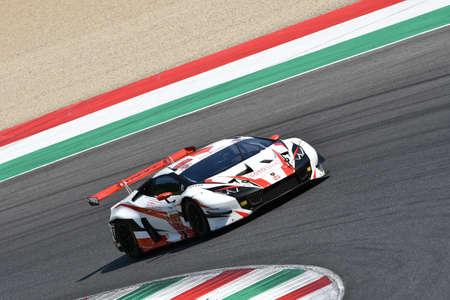 Mugello Circuit, Italy - 19 July, 2019: Lamborghini Huracan GT3 Evo LP Scuderia Racing driven by Cuneo Filippo and Magnoni Niccol? during the practice of CI Gran Turismo Sprint at Mugello Circuit.