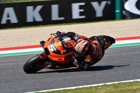 Mugello - Italy, 1 June: French Red Bull Ktm Factory Racing Team rider Johann Zarco in action during 2019 GP of Italy of MotoGP on June 2019 in Italy