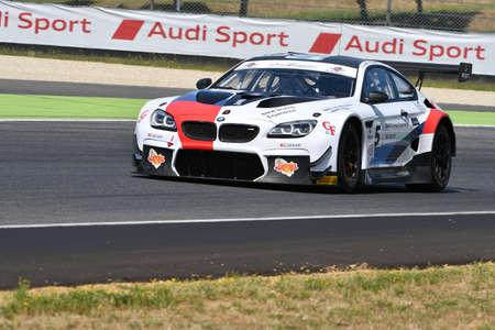 Mugello Circuit, Italy - 19 July, 2019: BMW M6 GT3 of BMW Italia Team, driven by Comandini Stefano and Johansson Erik during practice of C.I. Gran Turismo Sprint in Mugello Circuit.