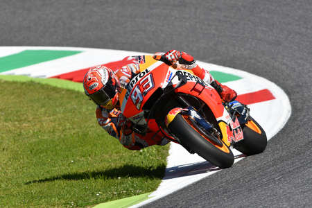Mugello - Italy, 1 JUNE: Spanish Honda Repsol Team rider Marc Marquez in action at 2019 GP of Italy of MotoGP on June 2019 in Italy