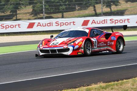 Mugello Circuit, Italy - 19 July, 2019: Ferrari 488 GT3 of AF Corse Team driven by Antonio Fuoco and Sean Hudspeth, during practice of C.I. Gran Turismo Sprint in Mugello Circuit. 新聞圖片