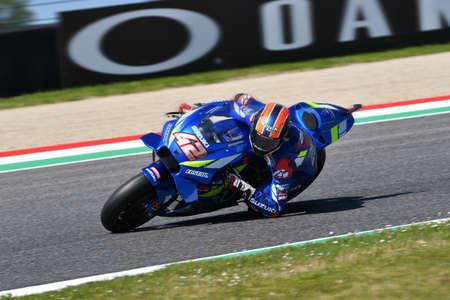 Mugello - Italy, 1 June: Spanish Suzuki Ecstar Team rider Alex Rins in action during 2019 GP of Italy of MotoGP on June 2019 in Italy