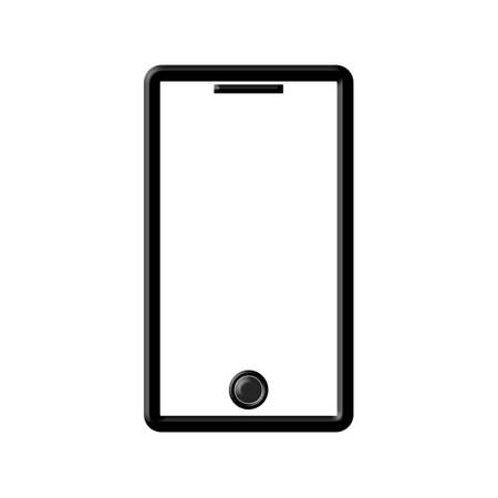 illustration of smartphone icon isolated on white Stock fotó