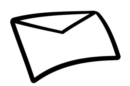illustration of mail icon isolated on white