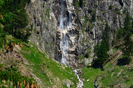 Waterfalls in the forest near Anterselva di sotto (Val Pusteria). South Tyrol, Bolzano. Italy. Archivio Fotografico